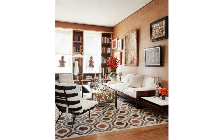 Amy Lau Design In Collaboration With Kyle Bunting And Clarissa Bronfman  Custom Cowhide Rug Cream, Palomino, And Stone Cowhides Come Together In A  Custom ...